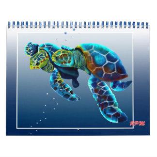 Un cuento de dos tortugas calendario de pared