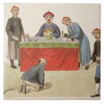 Un culpable ante un magistrado, platea 1 'del P Azulejo Cuadrado Grande