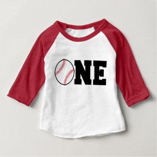 Un cumpleaños año de la camisa del béisbol