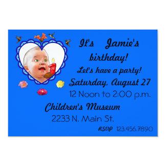 """Un cumpleaños año invitación 5"""" x 7"""""""