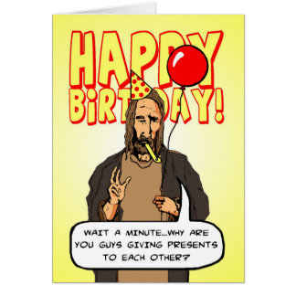 Un cumpleaños del navidad tarjeta de felicitación