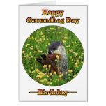 ¡Un cumpleaños el día de la marmota! Tarjetón