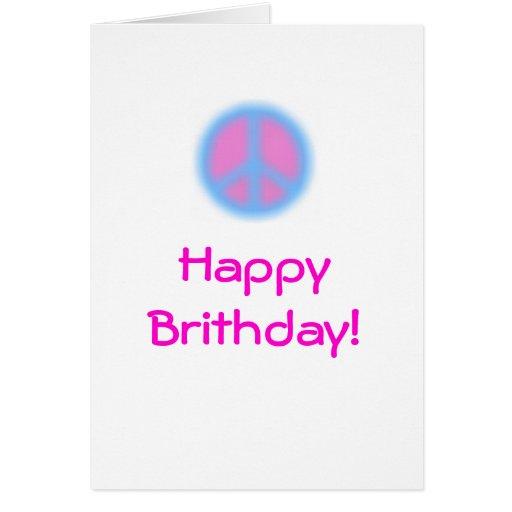 Un cumpleaños pacífico tarjeta de felicitación