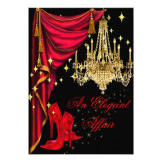 Un cumpleaños rojo de la lámpara del oro del asunt comunicados personales