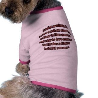 Un curso de la vida para olvidar alguien camiseta de perro