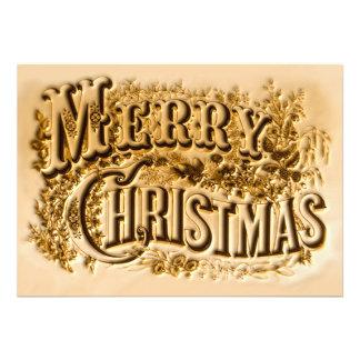 Un curtidor y Felices Navidad de Ives Invitaciones Personales