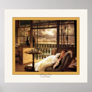 Un ~ de paso James Tissot de la tormenta bella art Posters