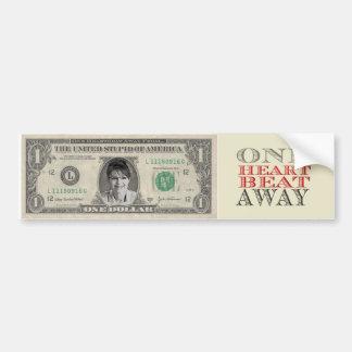 Un del latido del corazón pegatina del dólar de Pa Pegatina Para Auto