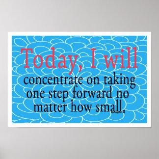 Un del paso poster de motivación adelante póster