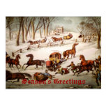 Un derramar hacia fuera en la tarjeta de Navidad d Tarjeta Postal