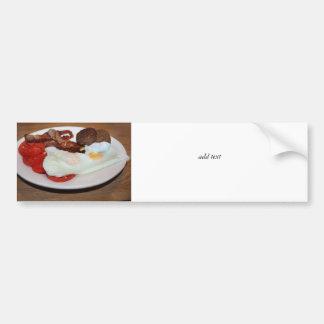 Un desayuno grande etiqueta de parachoque