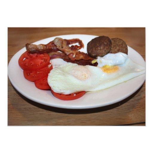 Un desayuno grande comunicado personalizado