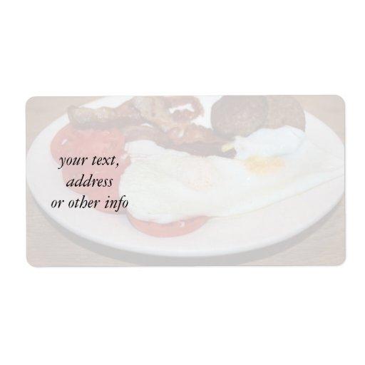 Un desayuno grande etiqueta de envío