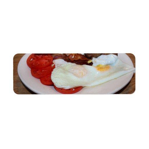 Un desayuno grande etiquetas de remite