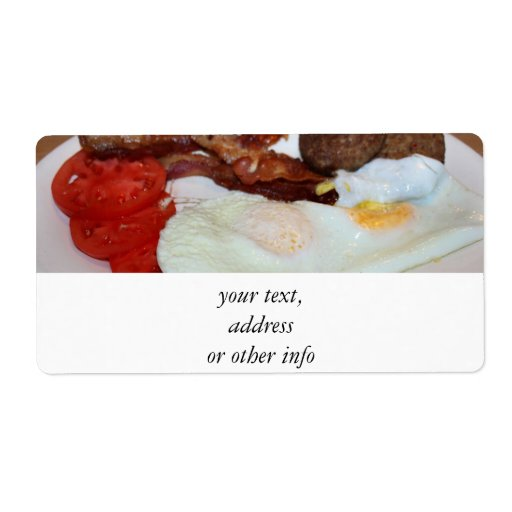 Un desayuno grande etiquetas de envío
