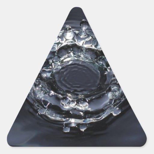 Un descenso de la vida calcomanías de triangulos