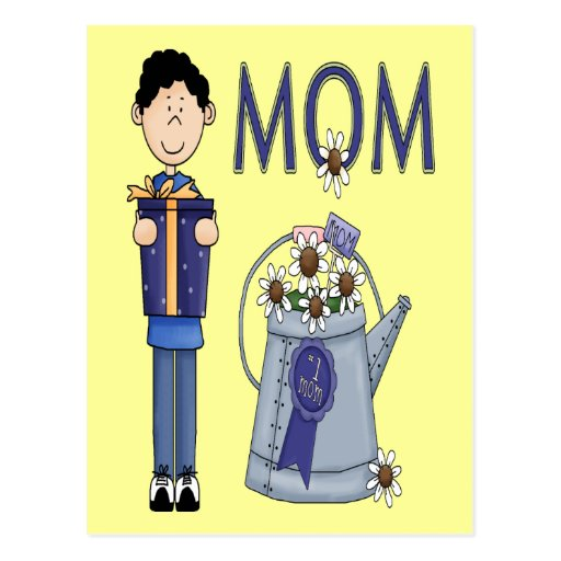 Un deseo de los hijos para la momia tarjetas postales
