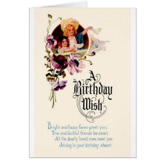 Un deseo del cumpleaños - tarjeta