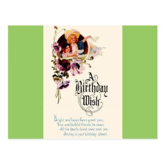 Un deseo del cumpleaños postal