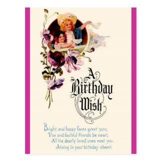 Un deseo del cumpleaños tarjetas postales