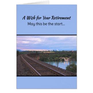 Un deseo para su retiro… tarjeta de felicitación