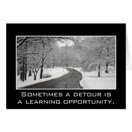 Un desvío es a veces una oportunidad de aprendizaj tarjetas