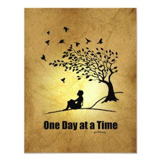 """Un día a la vez - (1 hembra del día a la vez) invitación 4.25"""" x 5.5"""""""