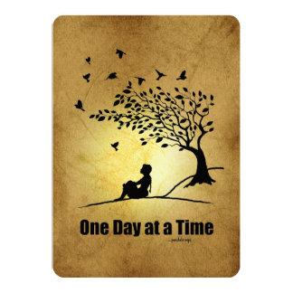 """Un día a la vez - (1 hembra del día a la vez) invitación 5"""" x 7"""""""