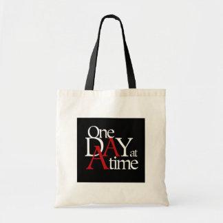 Un día a la vez bolsa lienzo
