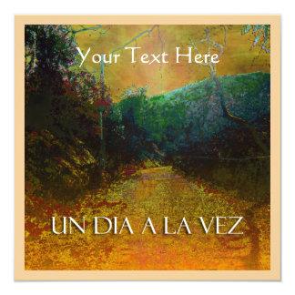 """Un Dia a la Vez Custom Invitation 5.25"""" Square Invitation Card"""