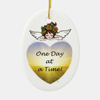 Un día a la vez ornamento para arbol de navidad