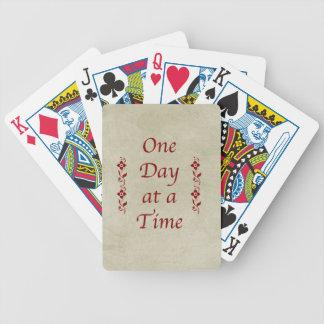Un día a la vez/estilo del vintage baraja de cartas