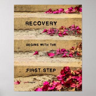 Un día a la vez (flores en los pasos/recuperación) póster