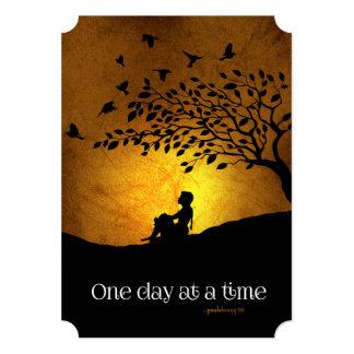 """Un día a la vez (hembra de la recuperación de 12 invitación 5"""" x 7"""""""