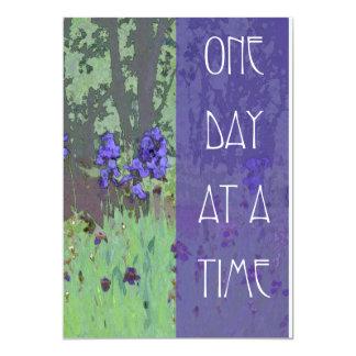 Un día a la vez irisa y los árboles invitación 12,7 x 17,8 cm