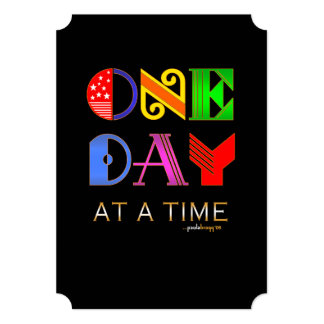 """Un día a la vez (programa de la recuperación de 12 invitación 5"""" x 7"""""""