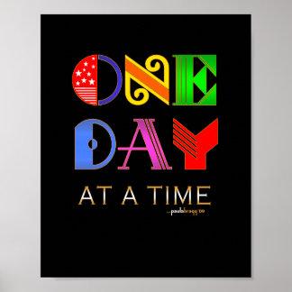 Un día a la vez (programa de la recuperación de 12 póster