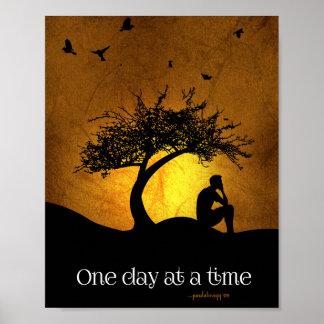 Un día a la vez (varón de la recuperación de 12 póster