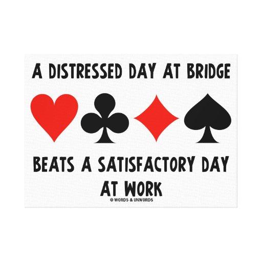 Un día apenado en el puente bate día satisfactorio impresión en lienzo estirada
