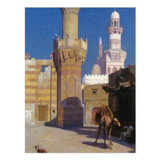 Un día caliente en El Cairo (frente de la Tarjetas Postales