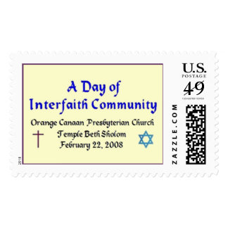 Un día de comunidad interconfesional sellos