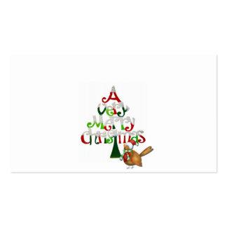 Un día de fiesta de las Felices Navidad muy con un Tarjetas De Visita