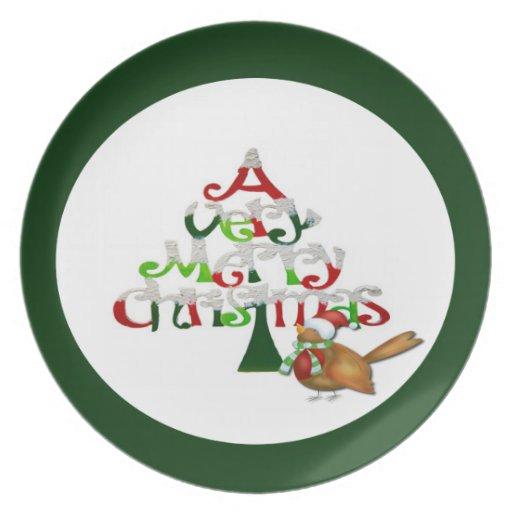 Un día de fiesta de las Felices Navidad muy Platos De Comidas