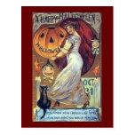 Un día de fiesta Halloween* *Happy del vintage Postal