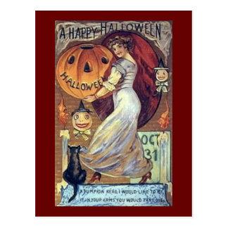 Un día de fiesta Halloween* *Happy del vintage Tarjetas Postales