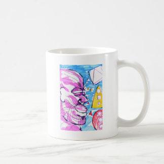 Un día de imaginación feliz taza de café