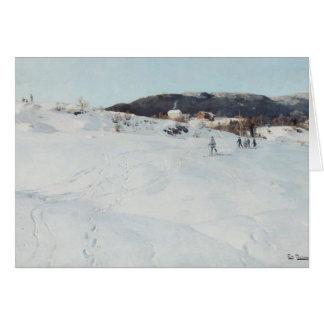 Un día de invierno en Noruega, 1886 Tarjeta De Felicitación