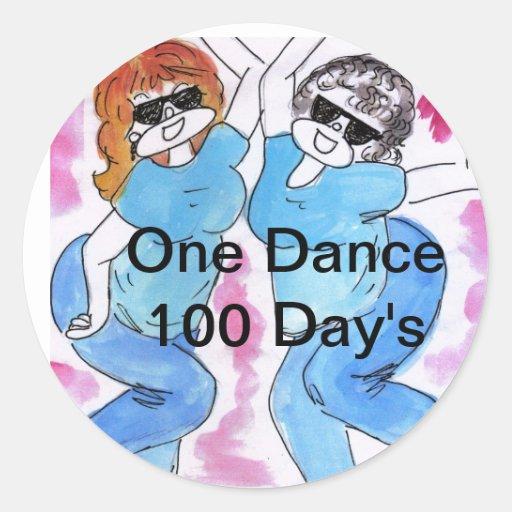 Un día de la danza 100 con Elanie y Irene Pegatina Redonda