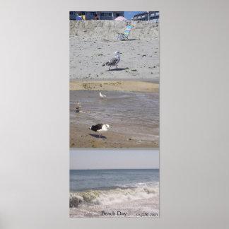 Un día de la playa póster