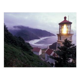 Un día de niebla en la costa de Oregon en el Hecet Tarjeta Postal